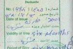 Afghanistan – visa, 2001