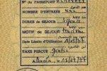 Algeria – visa, 1977