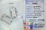 Algeria – passport stamps and visa, 2002