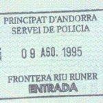 Andorra – border stamp, 1995 thumbnail