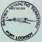 Antarctica – stamp from the British polar station