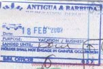 Antigua and Barbuda – border passport stamp, 2002
