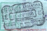 Argentina – border passport stamp, 1995