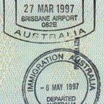 Australia border crossing 1997