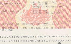 Australia – a visa in the 1999 version