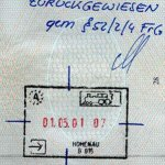 Austria – canceled stamp, review from a border, 2001 thumbnail