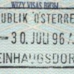 Austria – passport stamp, 1996 thumbnail
