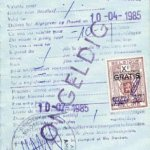 Belgium – visa, 1985 thumbnail