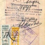 Belgium – visa and border stamp, 1931 thumbnail