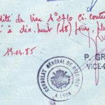 Belgium – visa extension, 1985 thumbnail