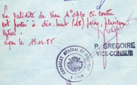Belgium – visa extension, 1985 post image