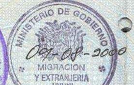 visa to Bolivia
