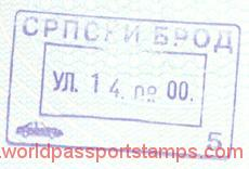 Bosnia and Herzegovina – border stamp, 2000 post image