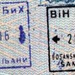 Bosnia and Herzegovina – stamps entry / exit, 2003 thumbnail