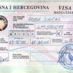 Bosnia and Herzegovina – visa, 2000 thumbnail