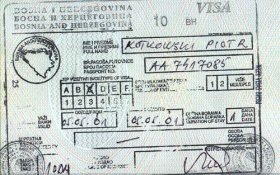 Bosnia and Herzegovina – transit visa, 2001 post image