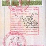 travels to Burkina Faso