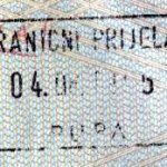 Croatia – stamp of border control, 1995 thumbnail