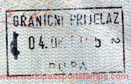 Croatia – stamp of border control, 1995 post image