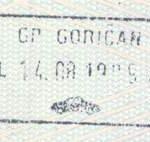 Croatia – border stamp, 1999 thumbnail