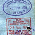Northern Cyprus (Turkish) – stamps entry / exit, 1996 thumbnail