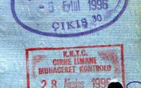 Northern Cyprus (Turkish) – stamps entry / exit, 1996 post image