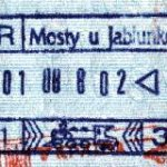 Stamp from railway border control Czech Republic – Slovakia (1998) thumbnail