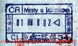 Stamp from railway border control Czech Republic – Slovakia (1998) post image