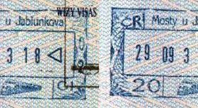 Czech Republic – stamps of railway border control (2003) post image