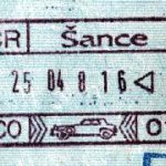 Czech Republic – stamp of border control, 1998 thumbnail