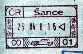 Czech Republic – stamp of border control, 1998 post image