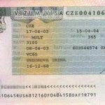 Czech Republic – visa, 2003 thumbnail