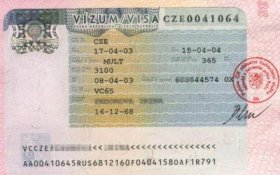 Czech Republic – visa, 2003 post image
