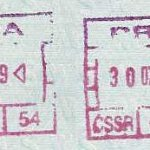 Czechoslovakia – stamps at the airport in Prague, 1987 thumbnail