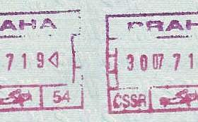 Czechoslovakia – stamps at the airport in Prague, 1987 post image