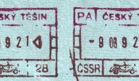 Cieszyn – border point of the Czechoslovak SSR, stamps 1989 post image