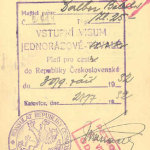 Prewar visas and border stamps from Czechoslovakia (1932) thumbnail