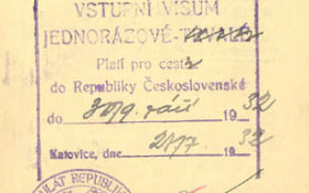 Prewar visas and border stamps from Czechoslovakia (1932) post image