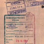 Czechoslovakia – visa and stamp, 1982 thumbnail
