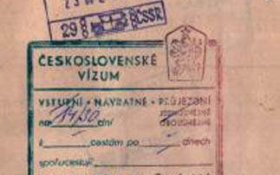 Czechoslovakia – visa and stamp, 1982 post image