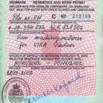 Denmark – visa with work permit, 2002 thumbnail