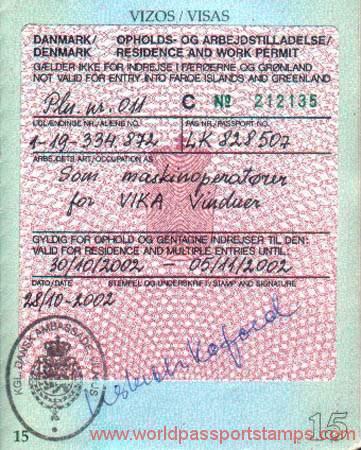 visa danmark