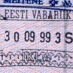 Estonia – passport stamp, 1999 thumbnail
