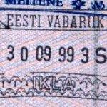 Estonia – passport stamp, 1999 thumbnail