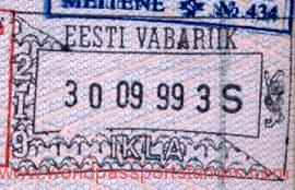 Estonia – passport stamp, 1999 post image