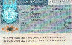 Estonia – visa, issued in Vilnius, 2002 post image
