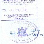 travels and visa to Fiji
