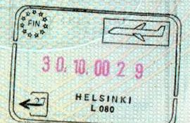Finland – border crossing at the airport in Helsinki, 2000 post image