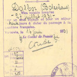 France – another kind of visa, 1931 thumbnail