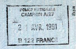 France – stamp of border control, 1991 post image